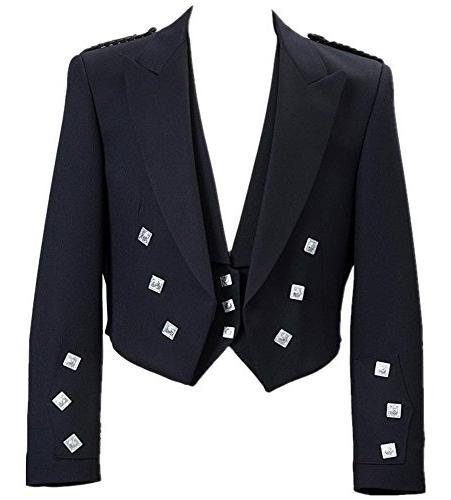 mens scottish prince charlie kilt jacket