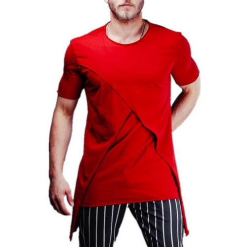 Mens TEE Shirt Blouse Top Summer Muscle