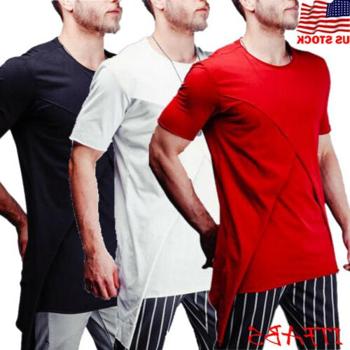 Mens Short Sleeve Shirt Casual Blouse Summer Muscle