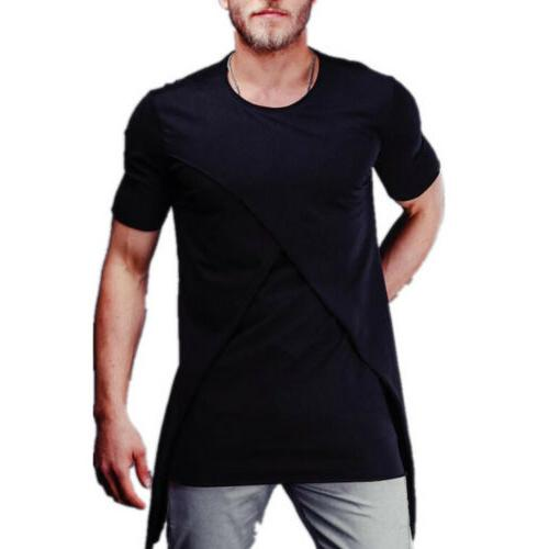 Mens Short TEE Blouse Top Clothing Muscle