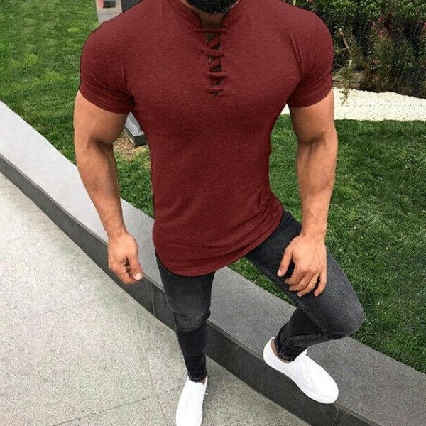 Mens T Fit Casual T-shirt Summer Clothes Tee