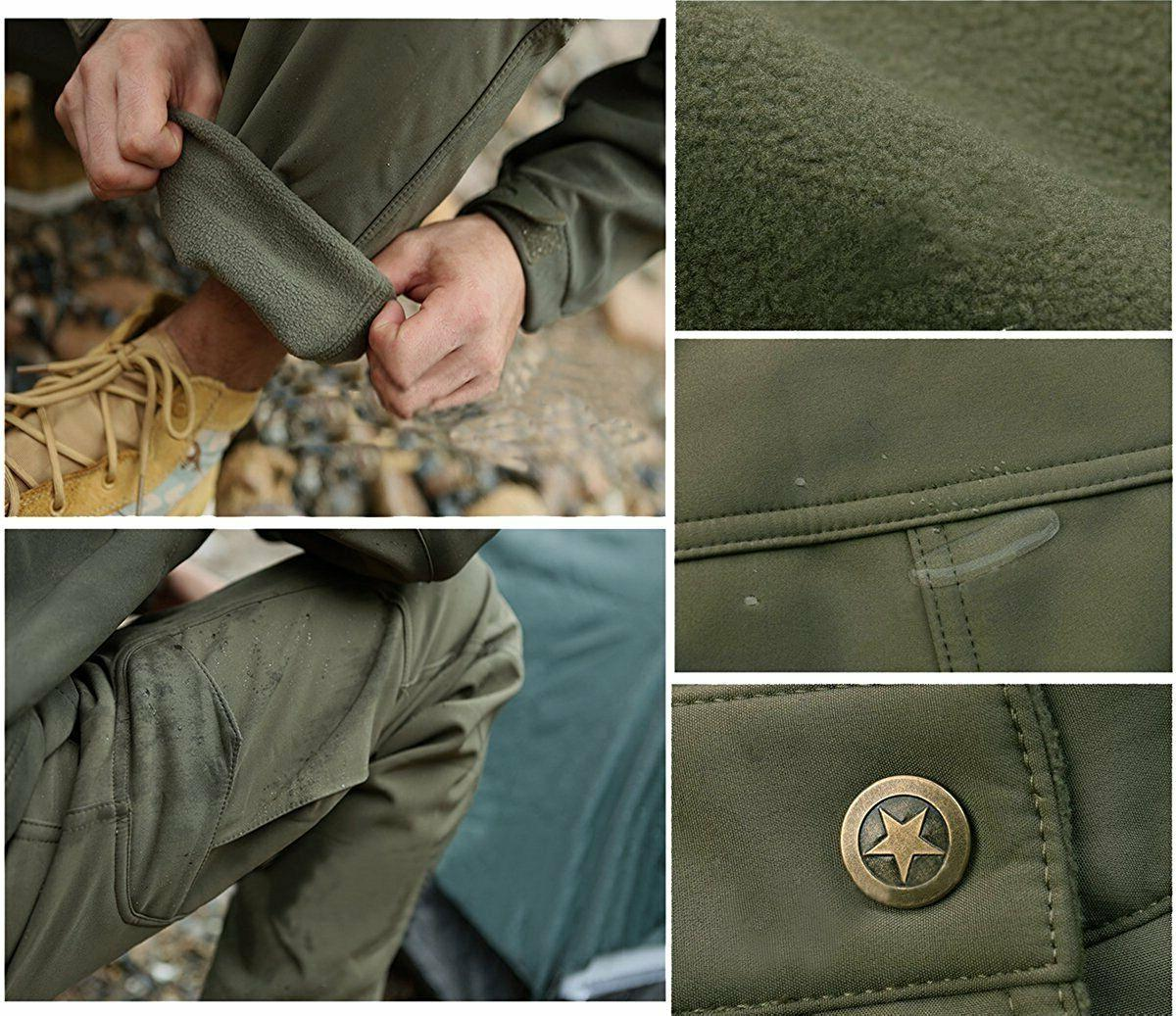 TACVASEN Soft Shell Pants Army