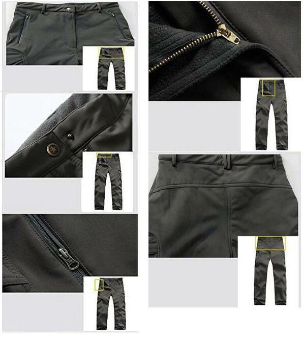 TACVASEN Mens Shell Fleece Pants Army Trousers