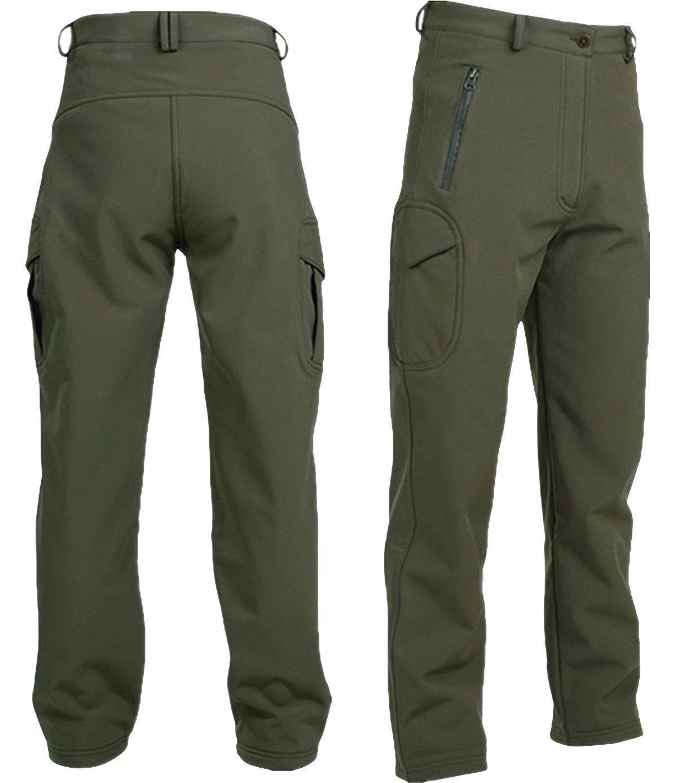 TACVASEN Tactical Fleece shell Hunting Pant