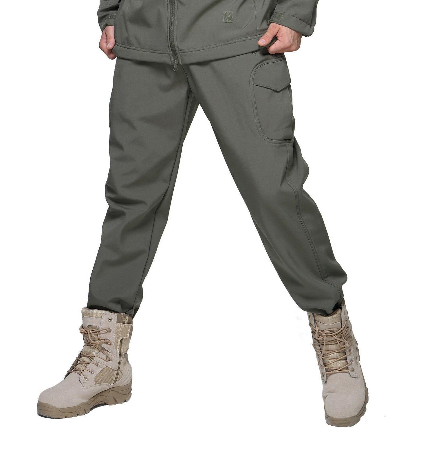 TACVASEN Fleece shell Hunting Army Pant