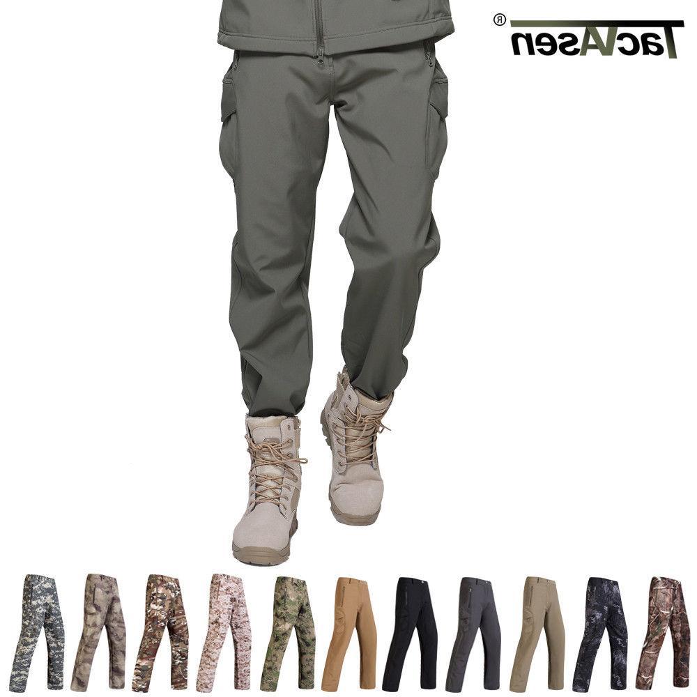 mens tactical pants fleece lining soft shell