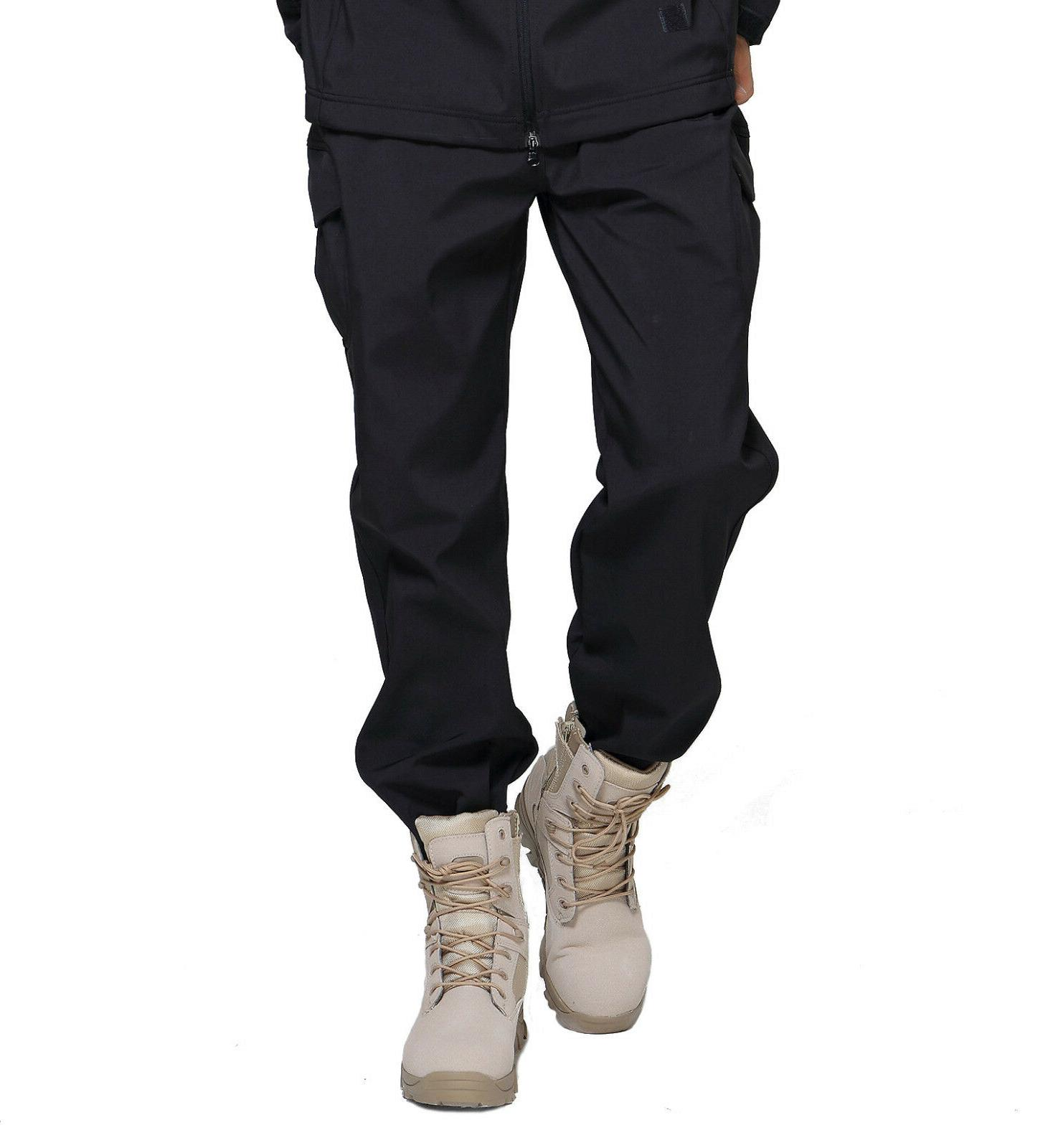 TACVASEN Mens Tactical Shell Fleece Army Pants Trousers