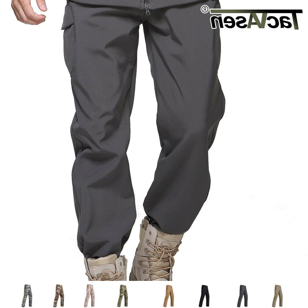 mens tactical soft shell fleece pants waterproof