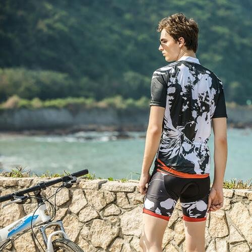 Mens Clothing Short Sleeve Cycling Wear Suit