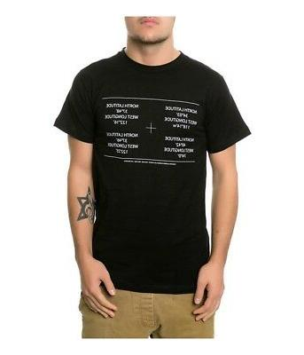 Fourstar Clothing Mens The Fourstar Coordinates Graphic T-Sh