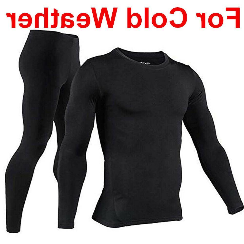 mens thermal top and bottom set long