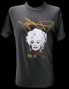 Mens Vintage Clothing 1985 Dolly Parton Tour T-Shirt For Men