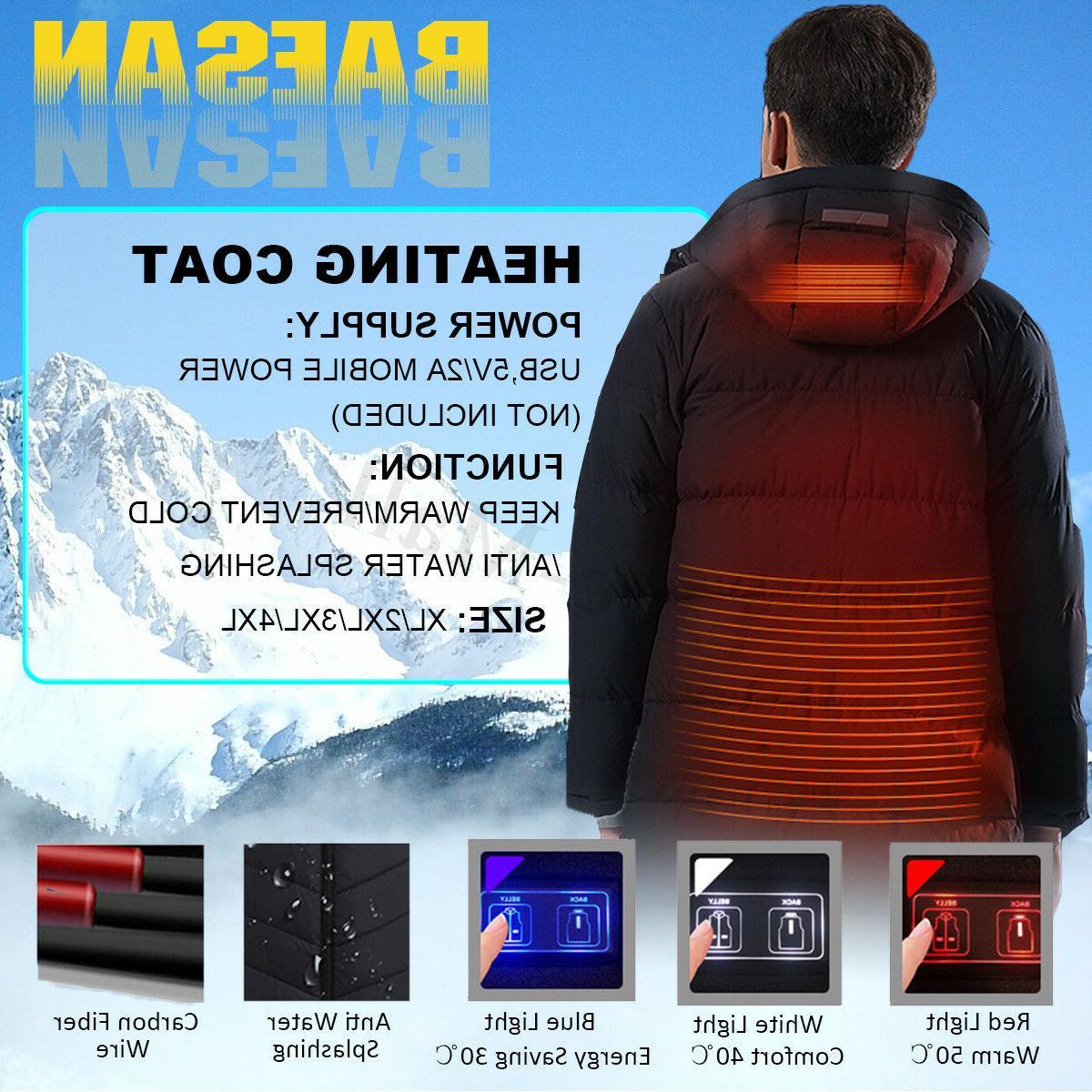 Mens Winter Electric Heated Vest Socks Heating Clothing