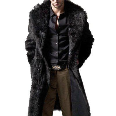 Mens Winter Warm Fashion Overcoat Clothes Jacket