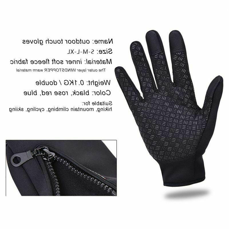Mens Winter Sports Gloves Windproof Touch Mittens