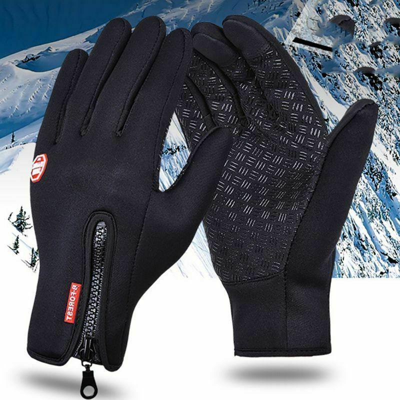 Mens Winter Gloves Windproof Waterproof Touch Screen
