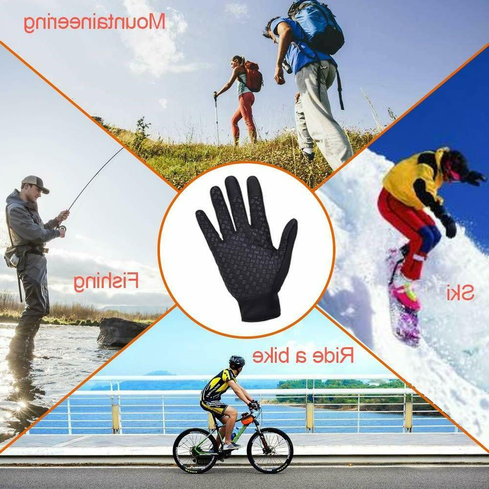 Mens Winter Gloves Windproof Touch Screen