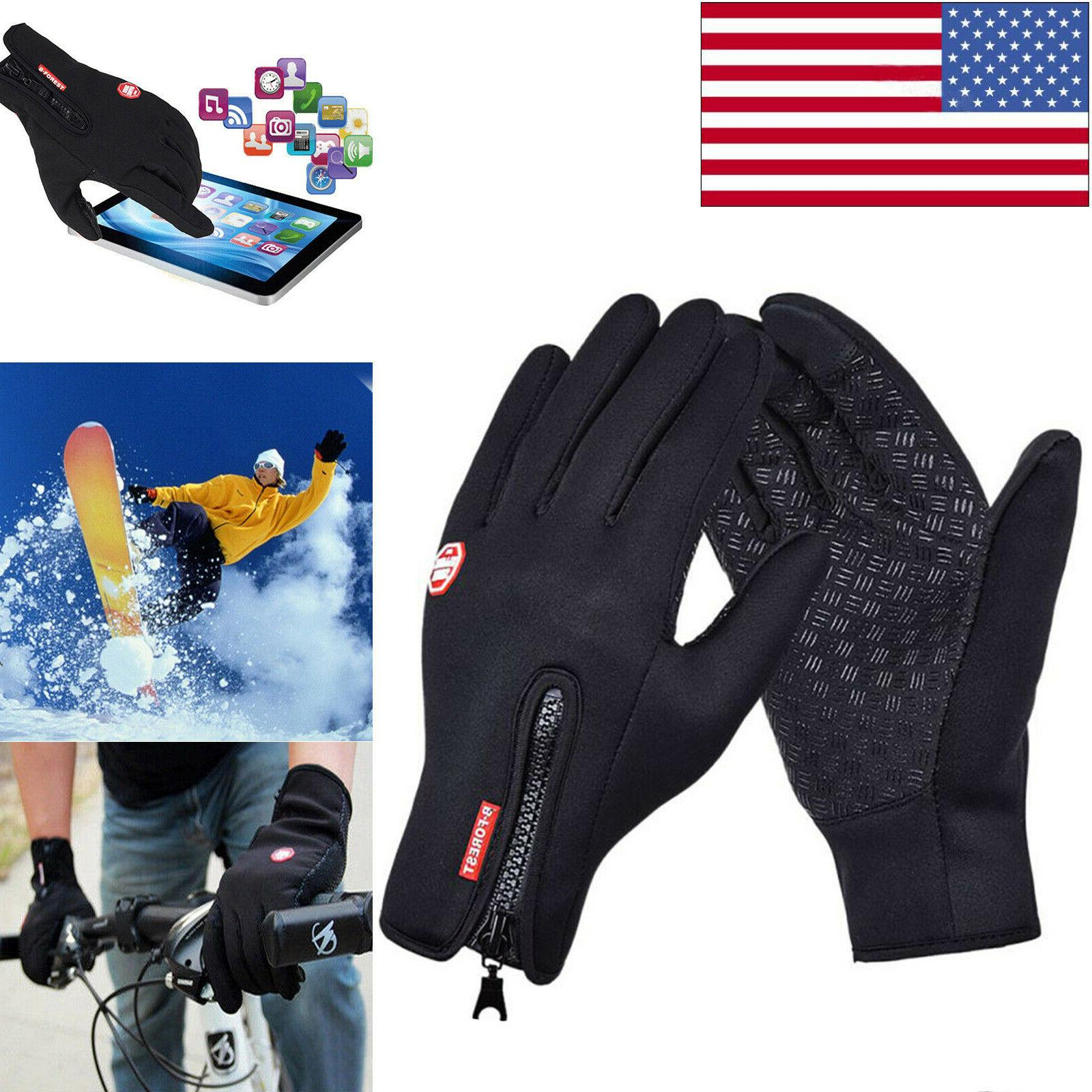 mens winter sports warm gloves windproof waterproof