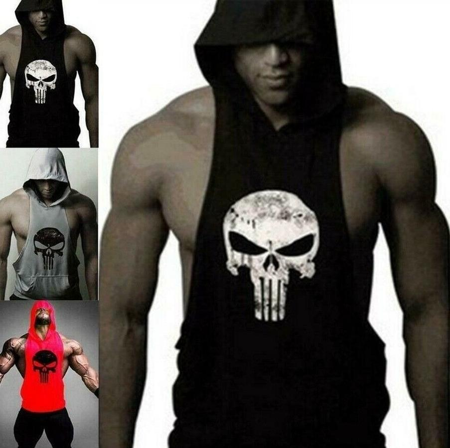 Men's Gym Clothing Stringer Hoodie Bodybuilding Tank Top Mus
