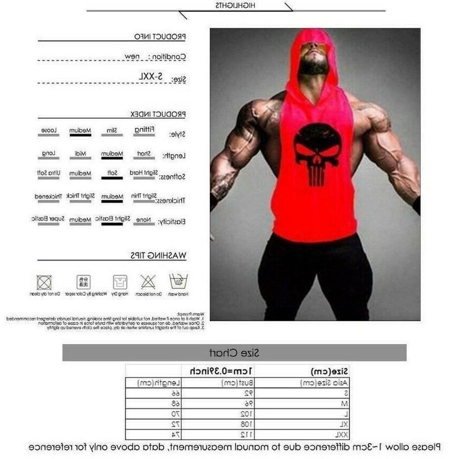 Men's Hoodie Tank Muscle Shirt US@