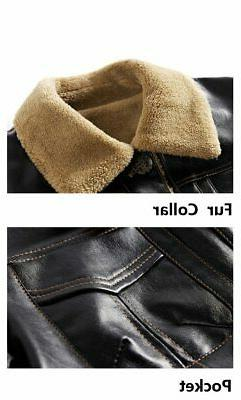 New Men's Leather PU Brand Clothing Outerwear Winter F