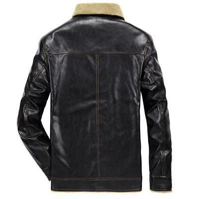 New PU Coats Mens Clothing Thermal F