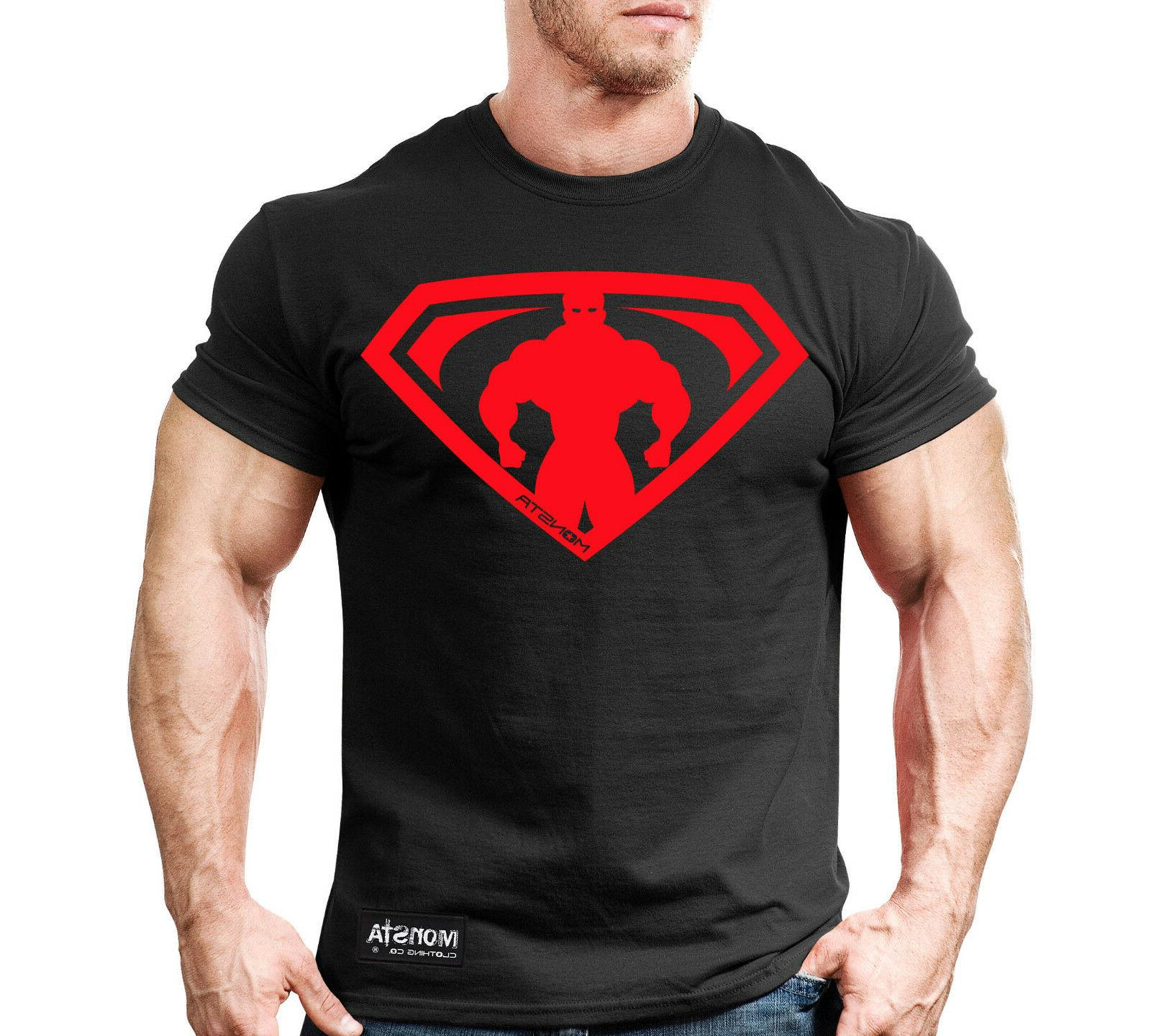 New Men's Monsta Clothing Fitness Gym T-shirt - HRD LVN Clas