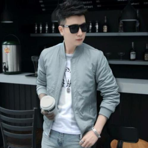 New Men's Slim fashion Tops Casual coat outerwear