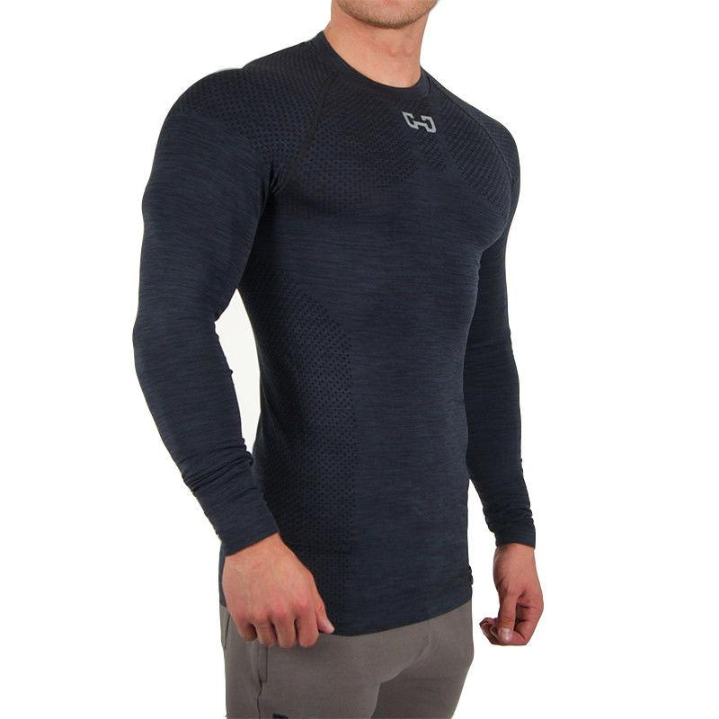 New Men's Long Sleeve T-shirt Workout Gym Gym