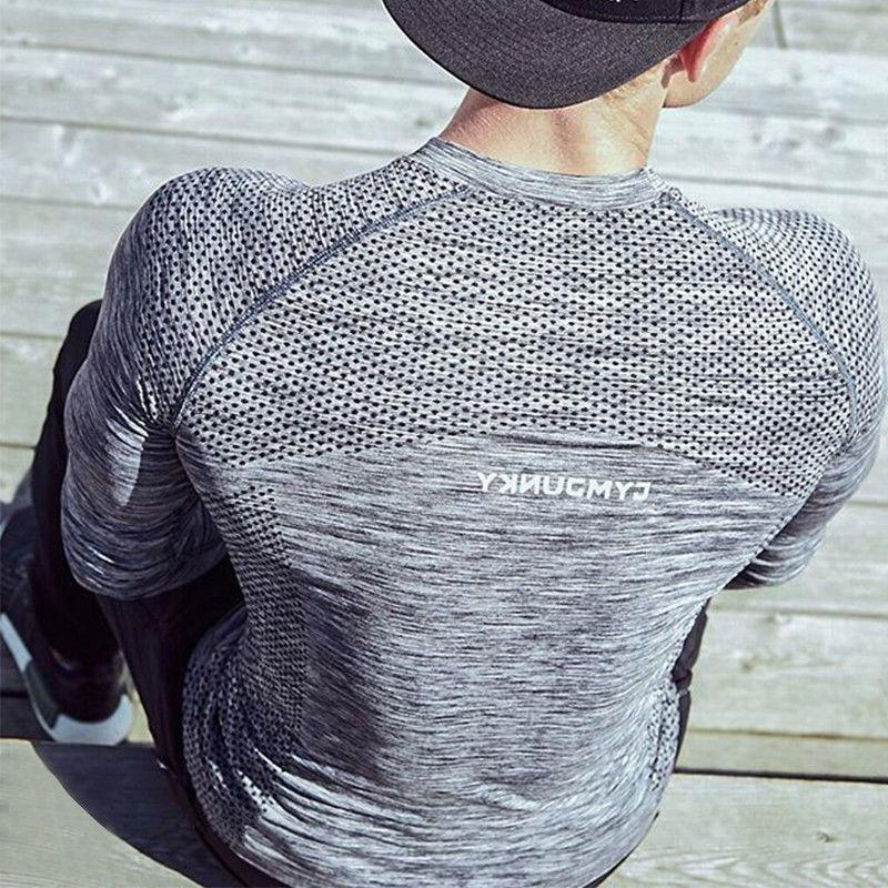 New Slim Long Sleeve T-shirt Workout Gym