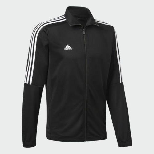 New Adidas Track 3 stripe black white jacket pant set