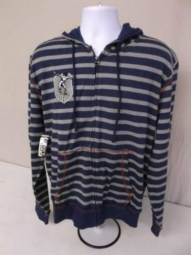 new mens hoodie jacket size large zip