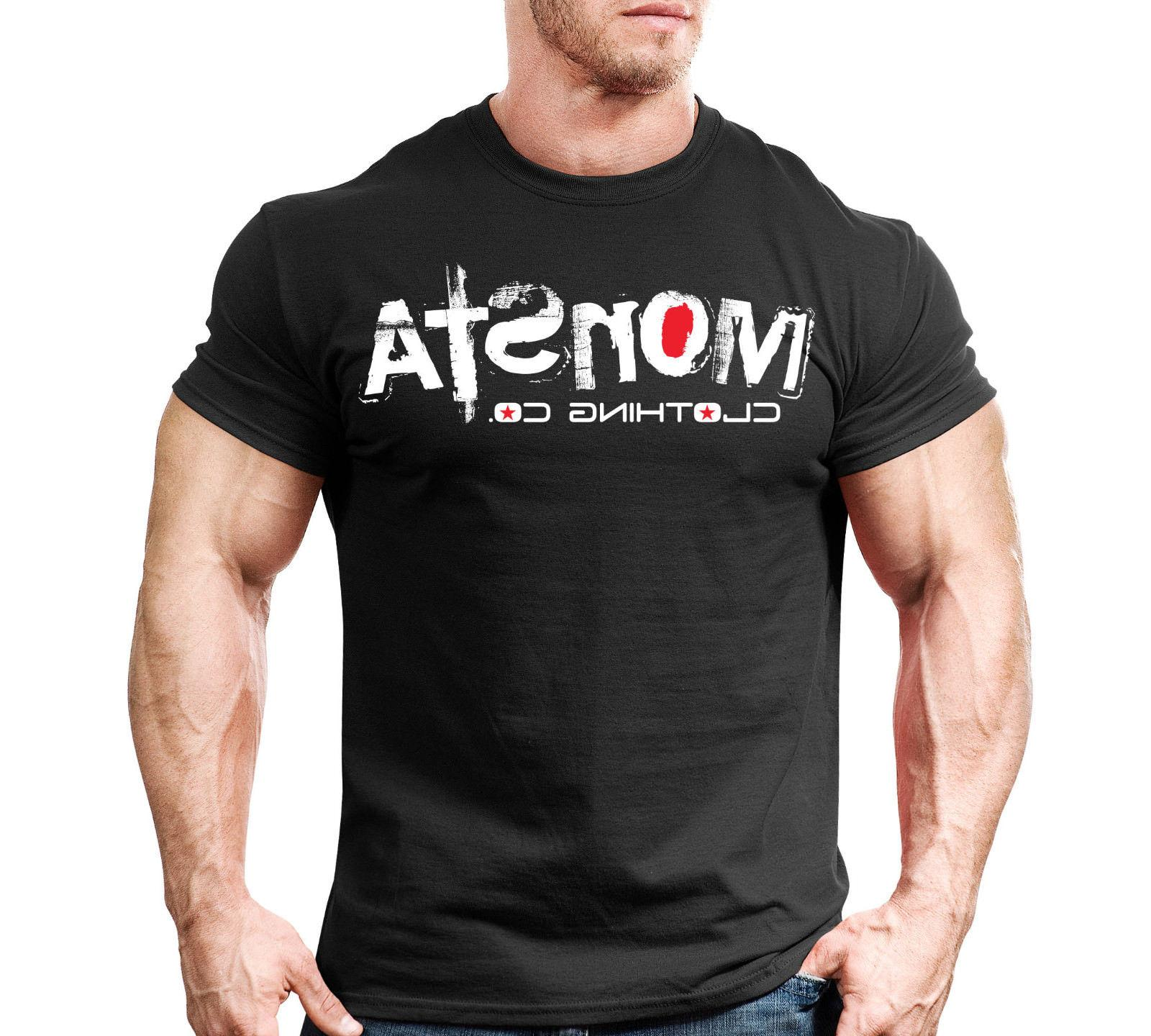 New Mens Monsta Clothing Fitness Gym T-shirt: Signature 31 W