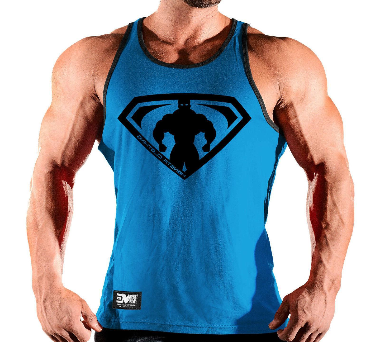new mens monsta clothing fitness gym tank