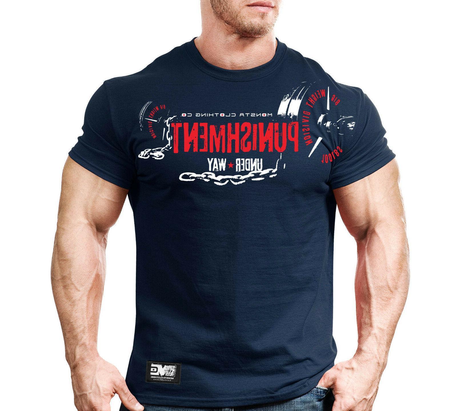 New Monsta Fitness Gym Workout T-shirt - Punishment