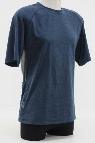 New! Club Ride Short Sleeve Jersey Size Medium Navy Blue & Grey