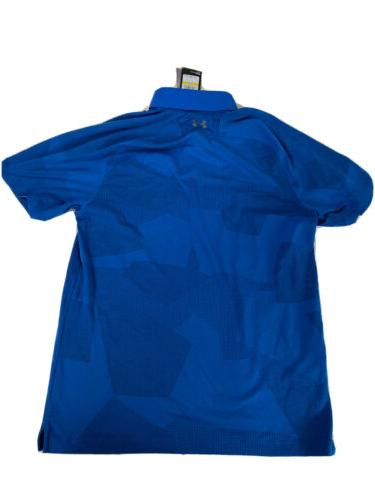 New Under Apparel Mens Limitless Polo- Moroccan Blue