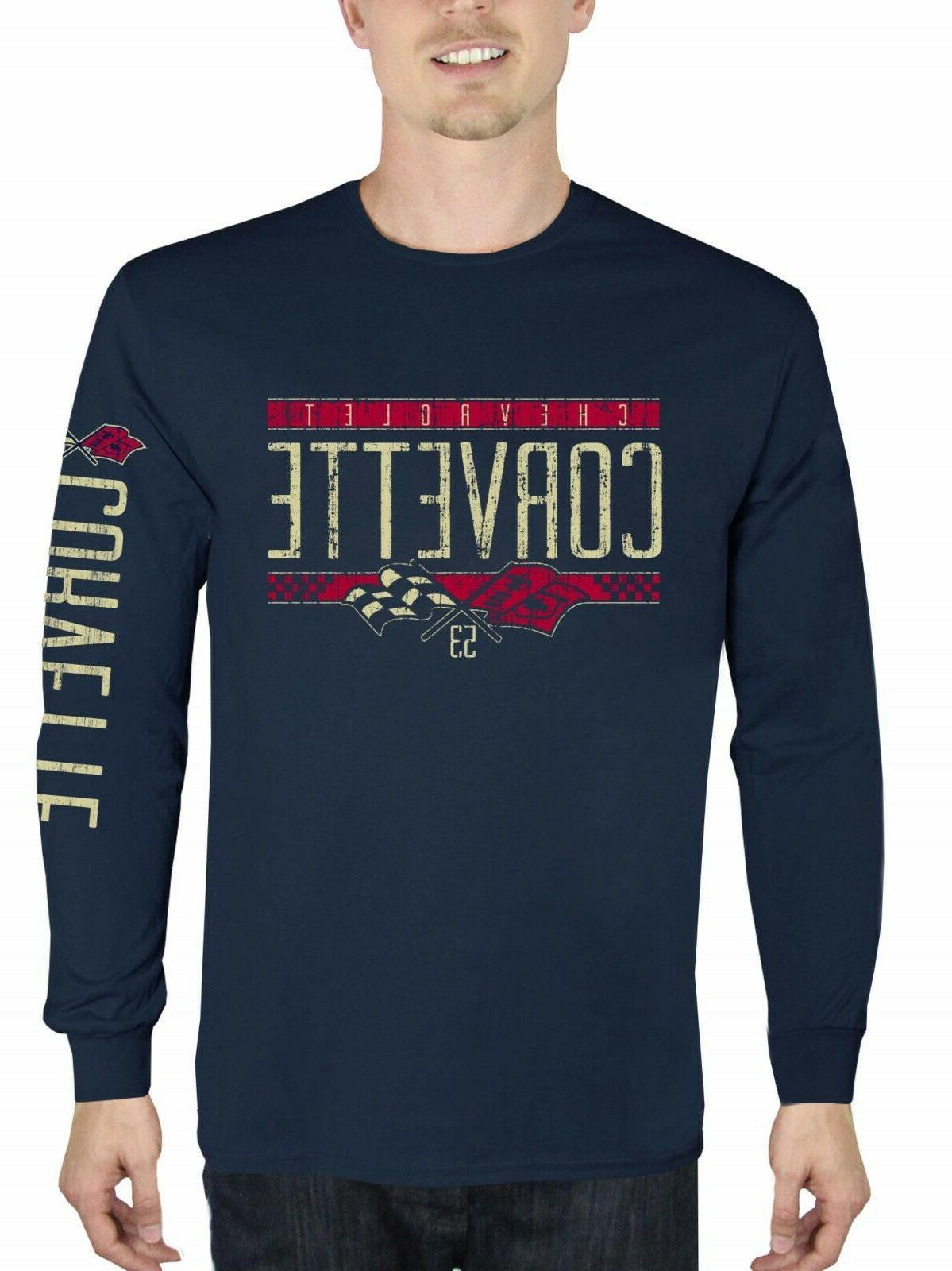 nwt chevrolet corvette shirt long sleeve navy