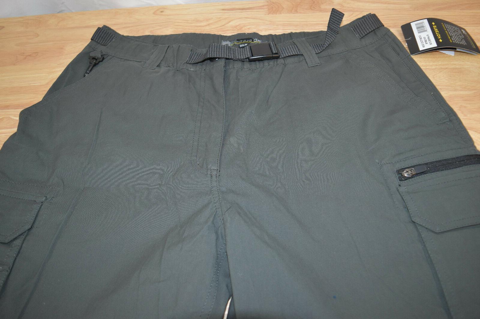 NWT BC Convertible Cargo Hiking Pants Shorts Stretch