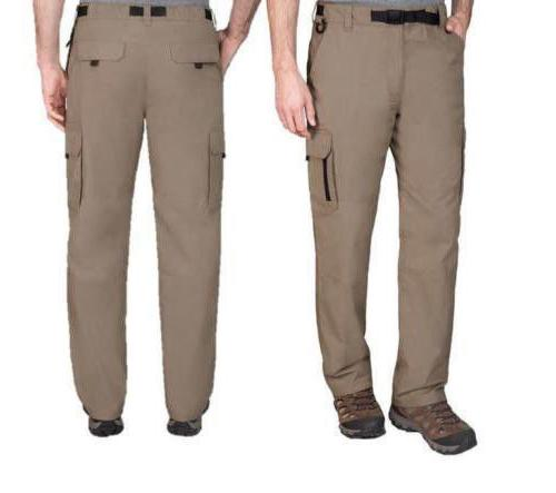 NWT BC Clothing Men's Stretch Cargo Hiking Pants Color - San