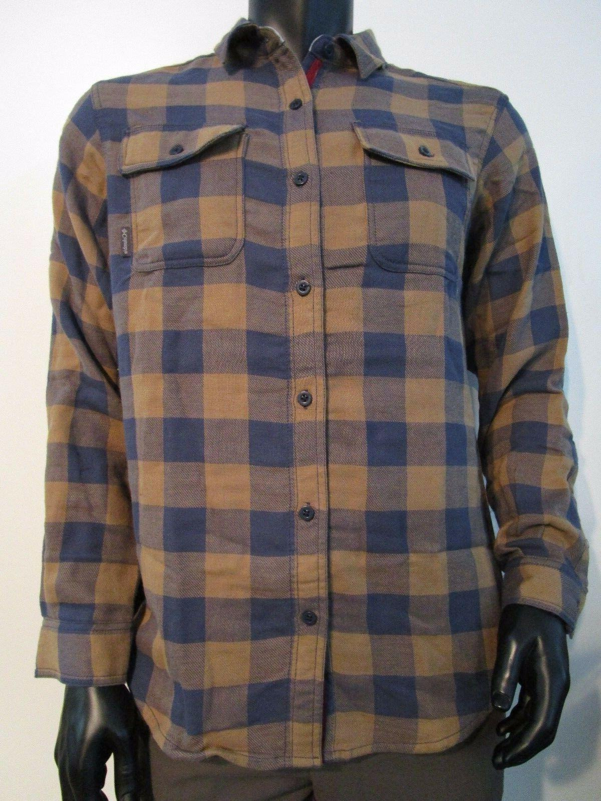 NWT Mens M Columbia Falldale Double Cloth Plaid Long Sleeve