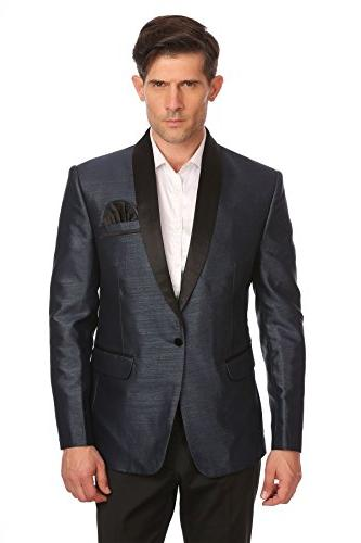 one button shawl collar party
