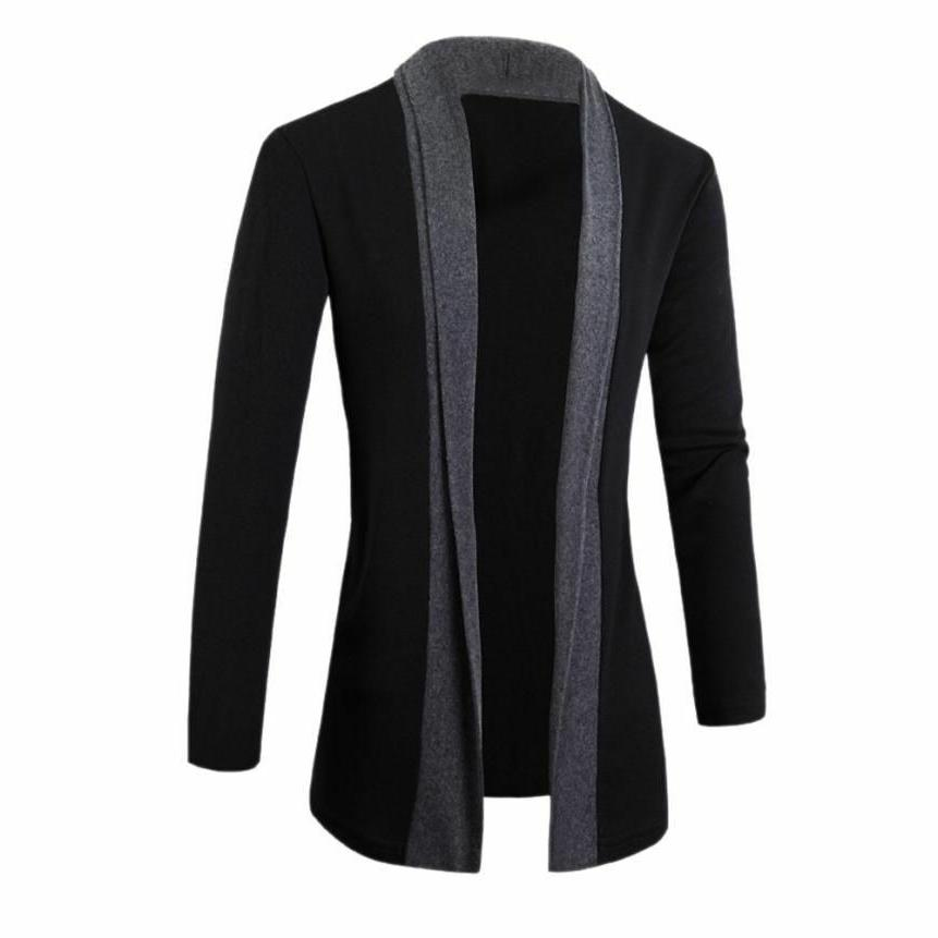 Outerwear Coat Men Fashionable Blended Clothes