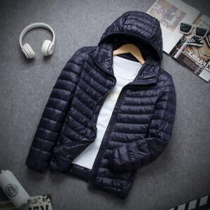 Packable Men's Hooded Duck Jacket Puffer Outerwear