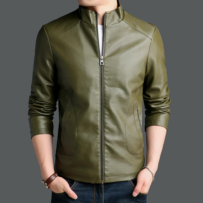 PU leather Men's Jackets Winter