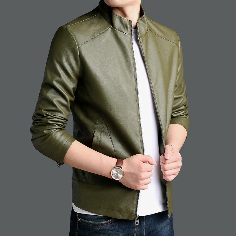 PU Men's Jackets Coats Outerwear