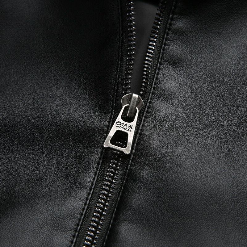 PU Synthetic Men's Jackets Outerwear Men's