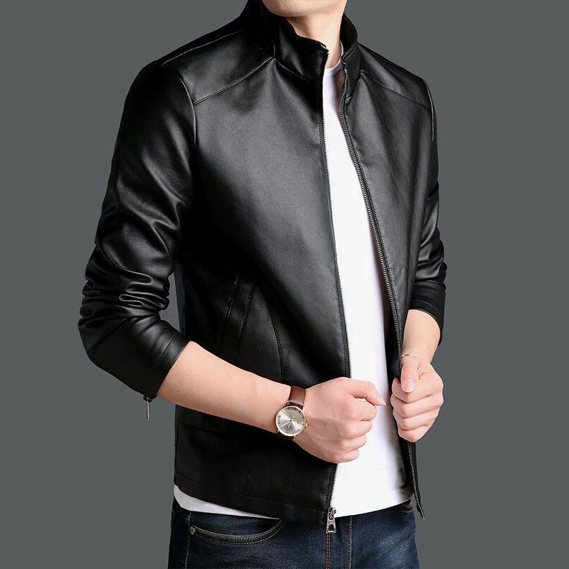 PU leather Jacket Men's Jackets Winter Outerwear