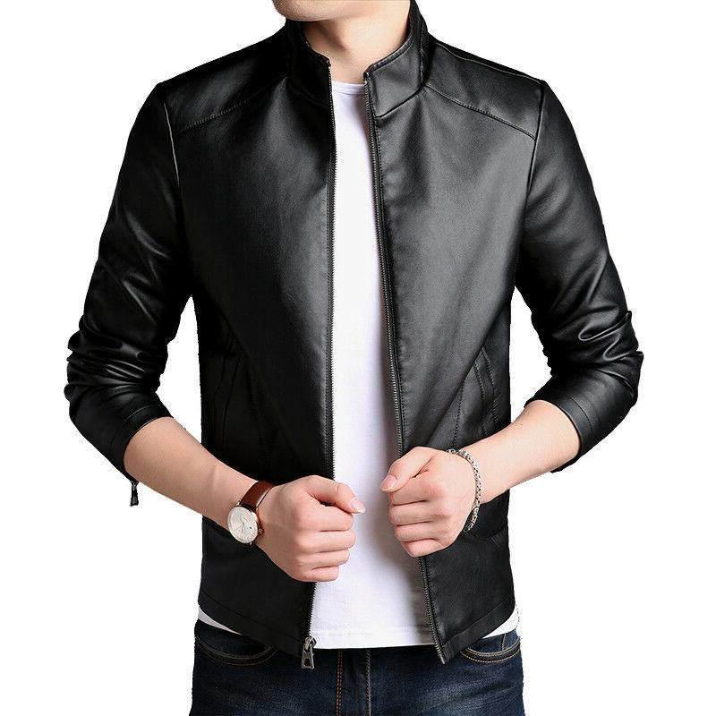 pu synthetic leather jacket men s jackets