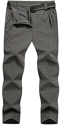 TBMPOY Men's Quick Dry Ripstop Belted Mountain Fishing Cargo